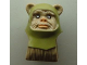 Part No: 64805pb05  Name: Minifigure, Head Modified SW Ewok with Olive Green Hood Pattern