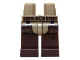 Part No: 970c120pb03  Name: Hips and Dark Brown Legs with Dark Brown Belt and Chaps Pattern