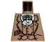 Part No: 973pb0132  Name: Torso Indiana Jones Waistcoat, Jacket, Green Bow Tie & Diary Pattern