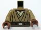 Part No: 973pb0540c01  Name: Torso SW Layered Shirt, Brown Belt Pattern (Mace Windu Clone Wars) / Dark Tan Arms / Reddish Brown Hands