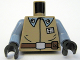 Part No: 973pb0609c01  Name: Torso SW Rebel Officer Suit Pattern / Sand Blue Arms / Black Hands