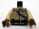 Part No: 973pb0610c01  Name: Torso SW General Calrissian Braid, Badge, Black Belt and Shoulder Strap Pattern / Tan Arms / Reddish Brown Hands