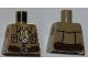 Part No: 973pb0782  Name: Torso Pharaoh's Quest Safari Shirt, Tan Bandana, Compass Pattern