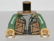 Part No: 973pb1050c01  Name: Torso SW Vest and Camouflage Shirt Pattern / Sand Green Arms / Tan Hands