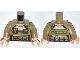 Part No: 973pb1421c01  Name: Torso Olive Green Body Armor with Radio and Pockets Pattern / Dark Tan Arms / Light Flesh Hands