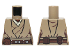 Part No: 973pb1480  Name: Torso SW Jedi Robe, Belt and Tan Undershirt Pattern (SW Stass Allie)