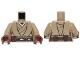 Part No: 973pb1480c01  Name: Torso SW Jedi Robe, Belt and Tan Undershirt Pattern (SW Stass Allie) / Dark Tan Arms / Reddish Brown Hands