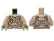 Part No: 973pb1493c01  Name: Torso SW Elaborate Golden Geonosian Armor Pattern / Dark Tan Arms / Olive Green Hands