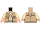 Part No: 973pb1690c01  Name: Torso SW Rebel Vest with General Insignia Pattern / Tan Arms / Light Nougat Hands