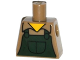 Part No: 973pb2004  Name: Torso Simpsons Shirt with Dark Green Overalls Pattern