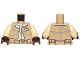 Part No: 973pb2204c01  Name: Torso SW Rebel Vest over Tan Shirt and Belt with Pockets Pattern / Tan Arms / Dark Brown Hands