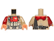 Part No: 973pb2476c01  Name: Torso SW Baze Malbus Armor Pattern / Dark Tan Arm Left / Dark Red Arm Right / Flesh Hands