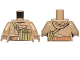Part No: 973pb2814c01  Name: Torso SW Hoodie Jacket with Large Central Pocket and Olive Green Pocket on Shoulder Strap Pattern (Resistance Trooper) / Dark Tan Arms / Dark Tan Hands