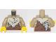 Part No: 973pb3282c01  Name: Torso Animal Furs with Bone and Rock Pattern / Dark Tan Arms / Yellow Hands