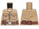 Part No: 973pb3361  Name: Torso SW Shirt Front Seamed with Patch Pockets, Reddish Brown Belt Pattern (Luke Skywalker)