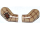 Part No: 981982pb021  Name: Arm, (Matching Left and Right) Pair with Patch and Brown Plaid Shirt Pattern