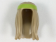 Part No: 99248pb03  Name: Minifigure, Hair Long with Lime Headband Pattern