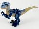 Part No: Raptor13  Name: Dinosaur, Raptor / Velociraptor with Dark Blue and Sand Blue Markings, Dark Blue Eyepatch