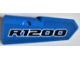 Part No: 11946pb034  Name: Technic, Panel Fairing #21 Very Small Smooth, Side B with 'R1200' Pattern (Sticker) - Set 42063