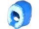 Part No: 15541pb01  Name: Minifigure, Headgear Hood Fur-lined, Short, Narrow Facial Opening with Bright Light Blue Fur Edge Pattern