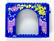 Part No: 15626pb07  Name: Panel 4 x 16 x 10 with Medium Lavender Cloud with Stars and Planets, Carnival Prizes Pattern