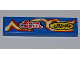 Part No: 2431pb175L  Name: Tile 1 x 4 with 'Zoto Spiik' and 'SLIPPY RACING' over Electric Spark Pattern Model Left (Sticker) - Set 8303