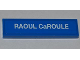 Part No: 2431pb245  Name: Tile 1 x 4 with 'RAOUL CaROULE' Pattern (Sticker) - Set 9485