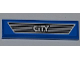 Part No: 2431pb259  Name: Tile 1 x 4 with 'CITY' on Dark Gray Car Grille Pattern (Sticker) - Set 4440