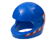 Part No: 2446pb43  Name: Minifigure, Headgear Helmet Standard with Red and White Checkered Flags on Sides Pattern