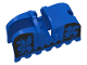 Part No: 2490px2  Name: Horse Barding, Ruffled Edge with Black Dragons (Black on Blue) Pattern