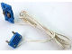 Part No: 2913c03  Name: Electric, Train Track Contact Base with Wire (97cm) with Blue Electric, Connector, 2-Way Male Rounded Wide Long with Cross-Cut Pins (2913 / bb0093bc01)