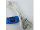 Part No: 2913c04  Name: Electric, Train Track Contact Base with Wire (97cm) with Light Gray Electric, Connector, 2-Way Male Rounded Wide Long with Cross-Cut Pins (2913 / bb0093bc01)