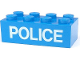 Part No: 3001pb005  Name: Brick 2 x 4 with White 'POLICE' Thin Pattern