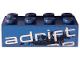 Part No: 3001pb096L  Name: Brick 2 x 4 with 'adrift' Top Half Pattern Model Left Side (Sticker) - Set 8151