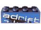 Part No: 3001pb096R  Name: Brick 2 x 4 with 'adrift' Top Half Pattern Model Right Side (Sticker) - Set 8151