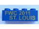 Part No: 3001pb155  Name: Brick 2 x 4 with 'FWC 2011 ST. LOUIS' Pattern