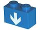 Part No: 3004p20  Name: Brick 1 x 2 with White Down Arrow Pattern