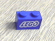 Part No: 3004pb053  Name: Brick 1 x 2 with Lego Logo Open O Style White Outline Pattern