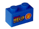 Part No: 3004pb069  Name: Brick 1 x 2 with 'Shell HELIX MOTOR OILS' on Blue Background Pattern on Both Sides (Stickers)