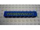 Part No: 3008pb087  Name: Brick 1 x 8 with Yellow 'WEGENWACHT' Pattern (Sticker) - Set 1590-2