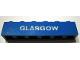Part No: 3009pb055  Name: Brick 1 x 6 with White 'GLASGOW' Pattern