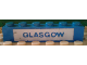 Part No: 3009pb056  Name: Brick 1 x 6 with Blue in White 'GLASGOW' Pattern