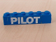Part No: 3009pb061  Name: Brick 1 x 6 with White 'PILOT' Text Bold Pattern (Sticker) - Set 6542