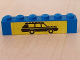 Part No: 3009pb063  Name: Brick 1 x 6 with Black Car on Yellow Background Pattern (Sticker) - Set 6363