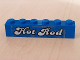 Part No: 3009pb065  Name: Brick 1 x 6 with White 'Hot Rod' Text Pattern (Sticker) - Set 5541