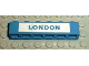 Part No: 3009pb084  Name: Brick 1 x 6 with Blue in White 'LONDON' Pattern