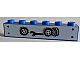 Part No: 3009pb115  Name: Brick 1 x 6 with Black Wrench and 3 Wheels with Tires Pattern (Sticker/Stickers) - Set 1966