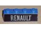 Part No: 3010pb039  Name: Brick 1 x 4 with White 'RENAULT' Pattern (Sticker) - Set 391