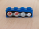 Part No: 3010pb057L  Name: Brick 1 x 4 with Four Truck Taillights Left Pattern (Sticker) - Set 8462