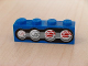 Part No: 3010pb057R  Name: Brick 1 x 4 with Four Truck Taillights Right Pattern (Sticker) - Set 8462